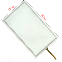 Fio 4 Polegada 8 Resistiva Painel Touch Screen para HSD080IDW1 AT080TN64 192*116