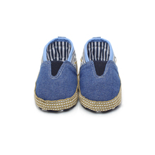 Stripe Canvas Baby Shoes For 0-24 Months Newborn Soft Sole High Quality Handmade First Walkers