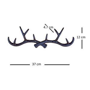 Image 5 - OUNONA Cast Iron Vintage Deer Antler Wall Hooks Home Decorative Hook Rack Wall mounted Key Hanger Wall Hanger for Key Coat Towel
