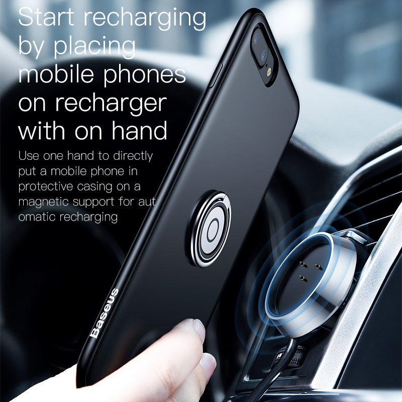 brand new 85dbf 150a4 US $15.97 30% OFF|Baseus QI Wireless Charger Case Car Holder For iphone 8 7  Car Air Vent Mount Magnetic Car Holder Stand For iphone 7 8 Plus Cases-in  ...