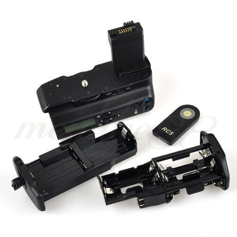 Meike MK-550D LCD Screen Wireless remote control Battery Grip for Canon EOS 550D 600D 650D <font><b>700D</b></font> Rebel T2i 3i 4i 5i + IRx1 image