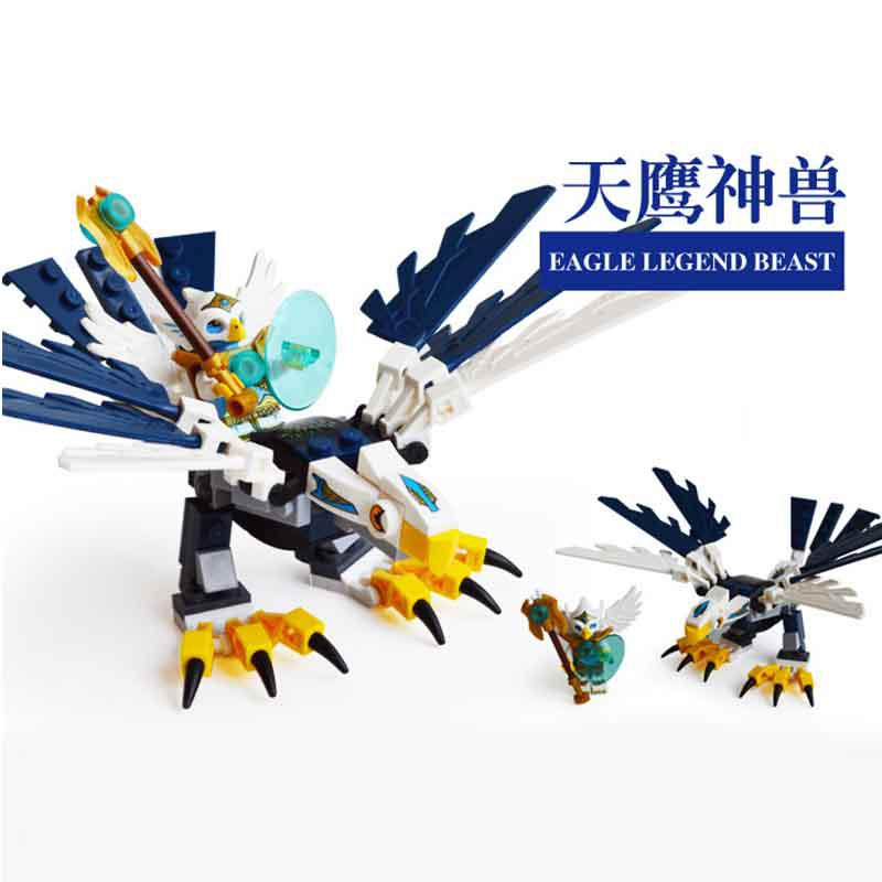 Qigong legendary animal editon CHIMAED Super Hero рисунок строительный блок кирпич для детей подарок Детская игрушка Совместимость с Legoings - Цвет: Серый