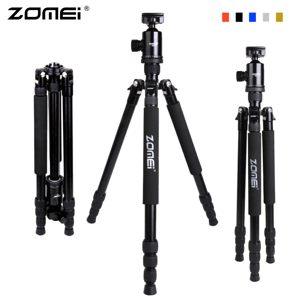 Zomei Z888 Professional Aluminium Alloy Tripod Kit Monopod Z818 For DSLR Camera Light Compact Portable Retail Box