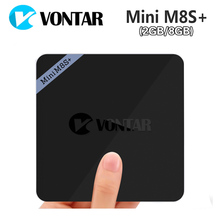 [Подлинный] vontar мини M8S + Android 6.0 ТВ коробке 2 г Оперативная память 8 г Встроенная память Amlogic S905X 2.4 г Wi-Fi BT4.0 H.265 4 К MiniM8S мини M8S II M8S плюс
