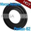 FOTGA 62mm Macro Reverse Adapter Ring For Pentax K110d K-M KM K10D K20D K200D K100D Camera Body