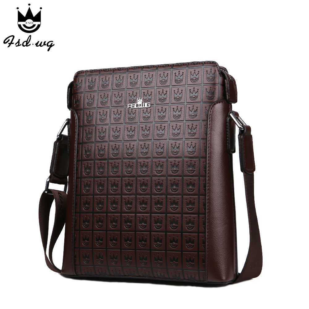New shoulder bags men's crossbody bag Embossing leather bolsas famous brand designer mens business bag men messenger bags bolsos new casual business leather mens messenger bag hot sell famous brand design leather men bag vintage fashion mens cross body bag