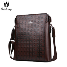 New shoulder bags men s crossbody bag Embossing leather bolsas famous brand designer mens business bag