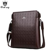 New shoulder bags men's crossbody bag Embossing leather bolsas famous brand designer mens business bag men messenger bags bolsos