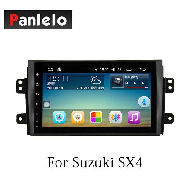 Autoradio Panlelo Android7.1 pour Suzuki SX4 Alivio Swift Vitara 2 Din Auto Radio AM/FM GPS Navigation BT commande au volant