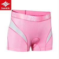 Santic 2017 Women Cycling Shorts Quick Dry Padded Underwear Anti UV Mountain MTB Bicycle Shorts Outdoor