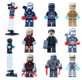 Marvel super heroes decool 9 unids/set iron man tony stark edificio de ladrillo del juguete lepin compatible 0160-0168