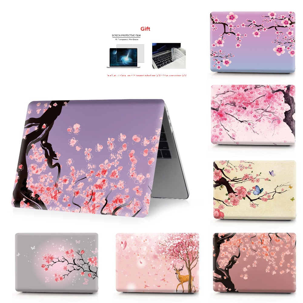 flower color printing notebook case for Macbook Air 11 13 Pro Retina 12 13 15 inch Colors Touch Bar New Pro 13 15  New Air 13-in Laptop Bags & Cases from Computer & Office