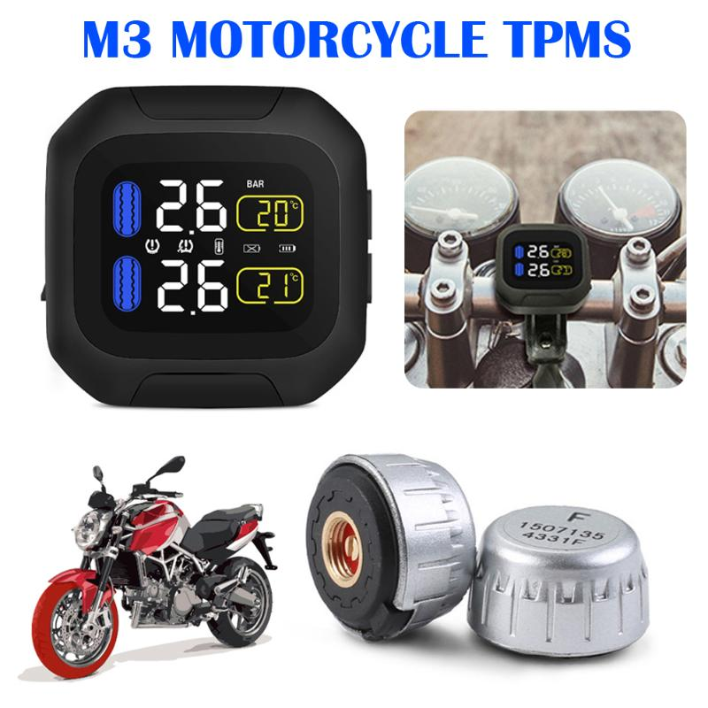Motorcycle Waterproof Tire Pressure Monitoring System Super Waterproof Sun Protection Real Time Monitoring font b TPMS