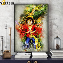 One Piece Luffy Zoro Ace Shanks Wall Poster