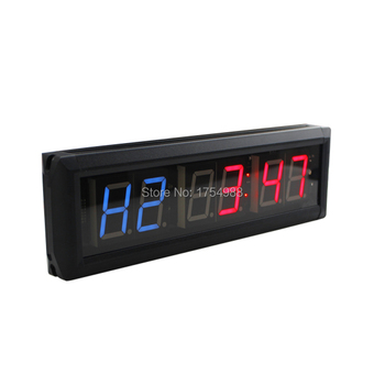 Cellphone remote controll Wall clock 1.8inch Gym LED Digital Timer Training Time Countdown Count Up As A Stopwatch escape game