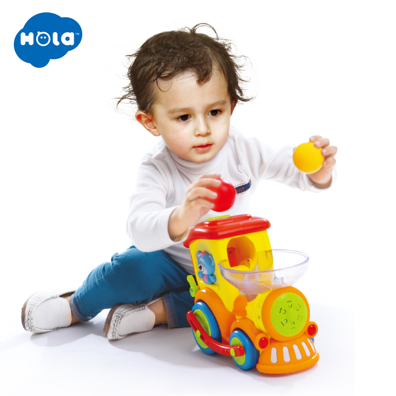 New Baby Toys Electric Universal Moving Train with Chasing Balls Activity Light Talks and Sings Kids