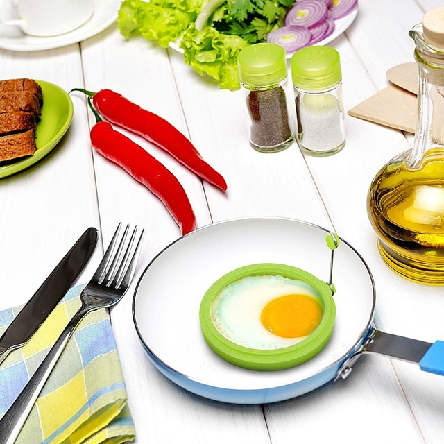 Silicone Fried Egg Pancake Ring Omelette Fried Egg Round Shaper Eggs Mould for Cooking Breakfast Cuisine Frying pan Oven Kitchen