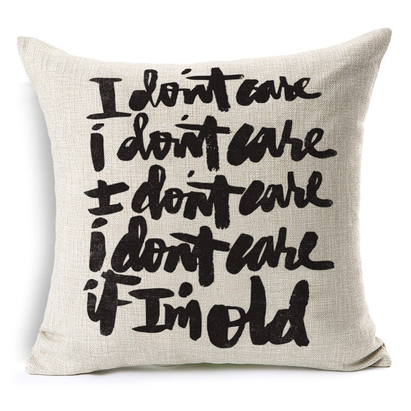 Sweet Letter Let it beHome Decorative throw pillow cover case cotton linen seat waist cushion cover for sofa home decor