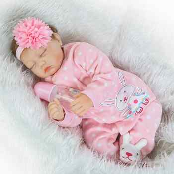 NPK New Design Alive Babies Dolls Reborn 22 Inch Boneca soft Silicone Baby Doll Toy Realistic girl Kids Birthday Xmas Gift - DISCOUNT ITEM  56 OFF Toys & Hobbies