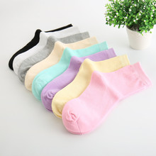 Фотография 2017 Fashion Women Socks One Size 19cm Girls Pink Socks Cotton Material Sock Free Shipping
