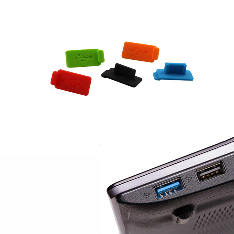 5 pieces USB port connector dust plug usb cover plug PC computer laptop USB 2.0 3.0 interface ...