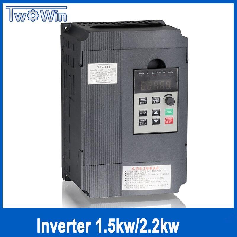 Twowin1.5KW/2.2KW 220 v Single-phase inverter eingang VFD 3 Phase Ausgang Frequenz Konverter Einstellbare Geschwindigkeit 1500 watt 220 v Inverter
