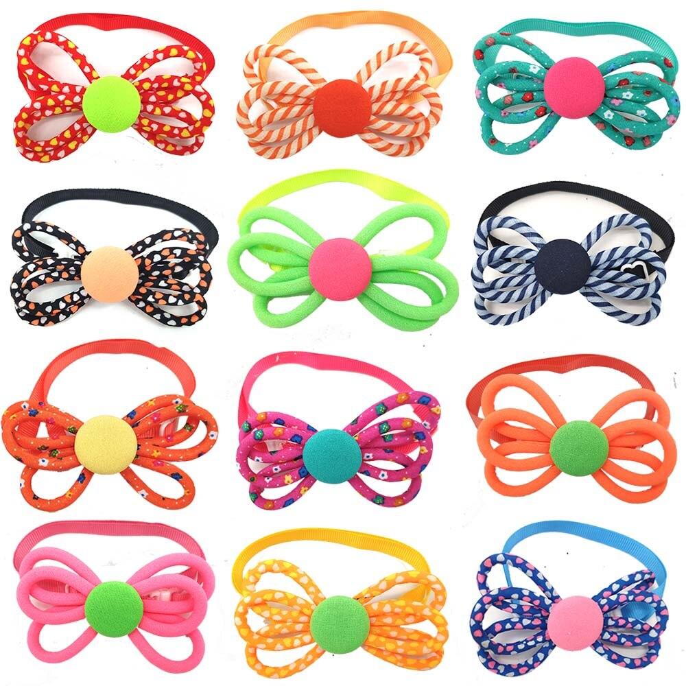 30 Pcs font b Pet b font Dog Accessories New Design Cute Bowknot Cat Dog Bow