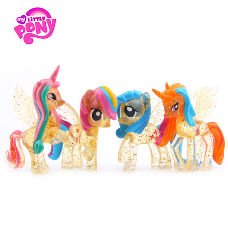 Action-Figures-Set Dolls Little-Pony-Toys Christmas Magic Model Collectible New-Year's-Gift