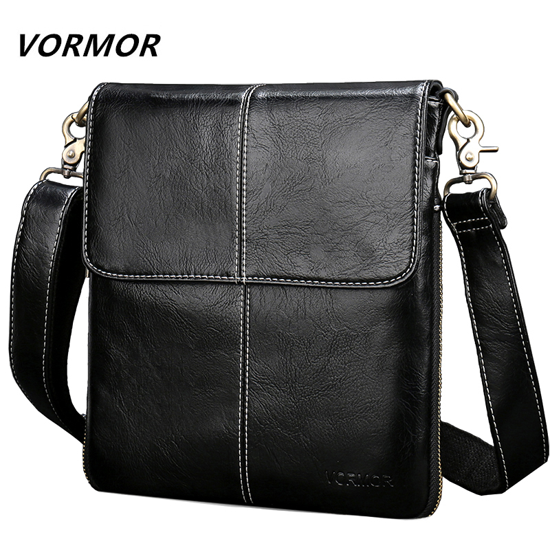 VORMOR Leather Crossbody Bag Shoulder Messenger Bags Small