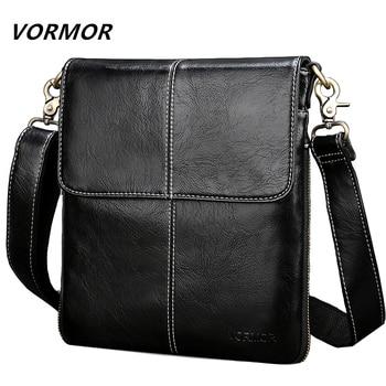 9a2ee9c6dcd6 VORMOR кожаная мужская сумка модная кожаная сумка через плечо ...
