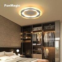 20 W Pós-moderno Acrílico Branco LEVOU Luz de Teto Luminária Lustre Montagem Embutida LED Lâmpada Sala de Jantar Sentado Estudo Iluminação quarto