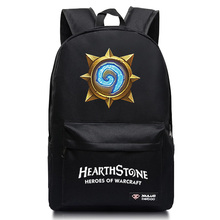 New Fashion Hearthstone Canvas Backpack Boy Girl School Bags For Teenagers Casual Warcraft Game Daily Laptop Backpack