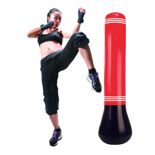1.5 M de Ventilación juguetes Inflables Vaso Entrenamiento Fitness Bolsa Gancho Kick Boxing Lucha Saco de arena Saco de boxeo Bolsa de Aire