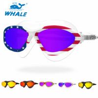 Whale Comfortable Silicone Swim Glasses Swimming Goggles Anti Fog UV Men Women Swim Mask Waterproof Professional