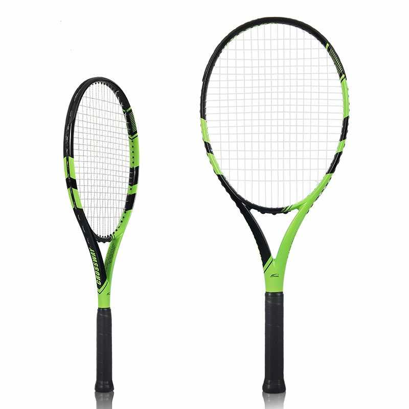 1 PCS Carbon Fiber Tennis Racket Raquets 50-58 lbs High-quality Nylon For Women Training Entertainment Exercise With Bag String
