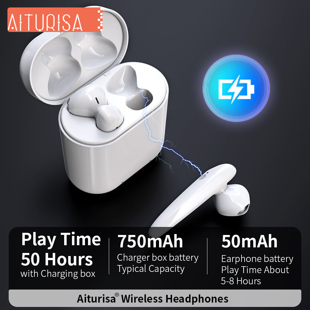 Image 2 - True Wireless Earphones Bluetooth 5.0 Earbuds Smart Headphones With Infrared Sensor And Microphone Call For Xiaomi iPhone Huawei-in Bluetooth Earphones & Headphones from Consumer Electronics