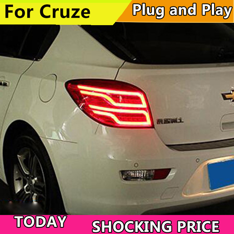 Car Styling for Chevrolet Cruze Tail Lights 2009-2015 Cruze Hatch Back LED Tail Light LED Rear Lamp DRL+Brake+Park+Signal car styling taillight accessories for chevrolet cruze tail lights 2009 2014 led tail light rear lamp drl brake park signal
