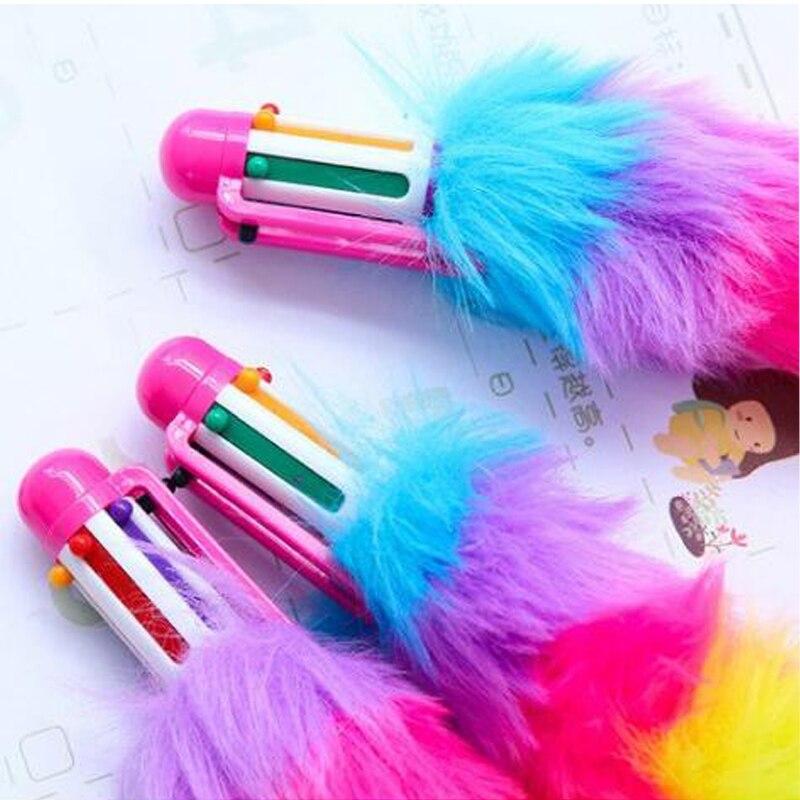 6 pçs 6 cores caneta esferográfica meninas