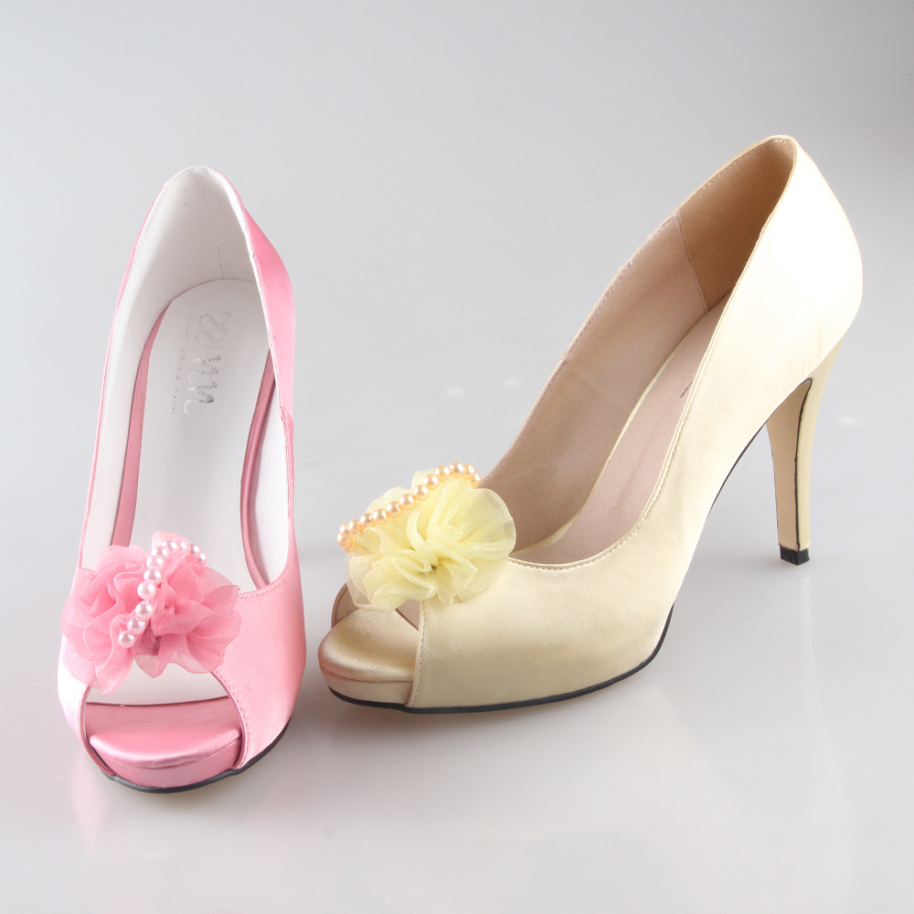 Light Pink Low Heel Shoes