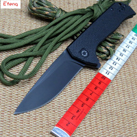 Efeng ZT 0804 Ball Bearing Folding Knife Steel G10 Titanium Plating Handle 204P Tactical Survival Knife