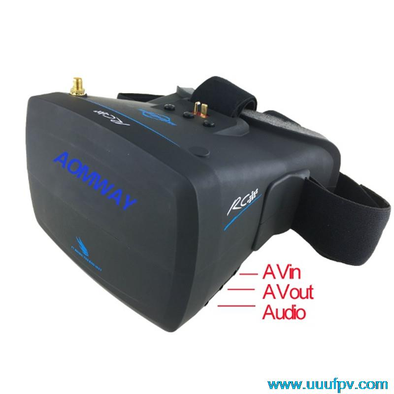 New Arrival Aomway VR Goggles V1 5.8G 40CH 800x480 5 Inch FPV Video Glasses Headset For Camera Drone Accessories new arrival 1 pair diy universal 7 inch fresnel lens 0 1mm spacing for hd projector fpv goggles headset