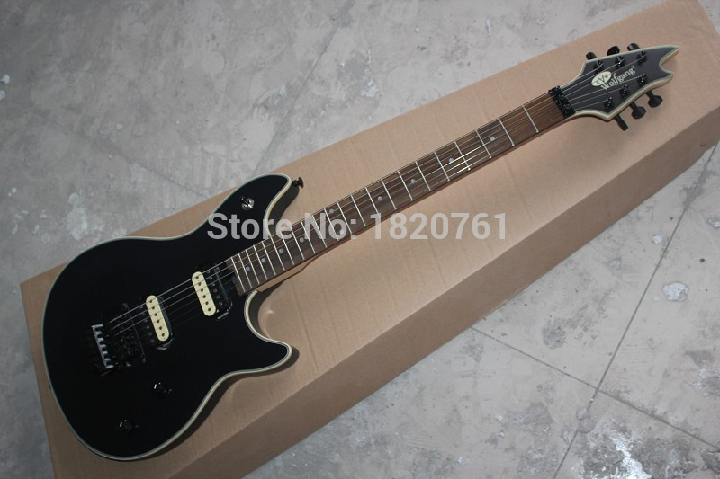 Free shipping Custom Shop Guitar Rosewood EVH Wolfgang Black 6 Strings Electric Guitar in stock  1461 new arrival matte black finish wolfgang evh electric guitars chinese solid guitar body