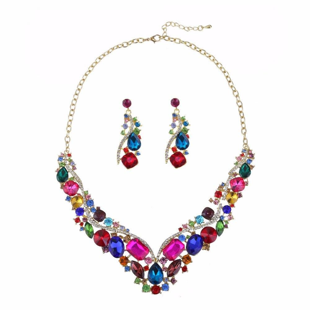 Houda Fashion Women Jewelry Sets Snake V Crystal