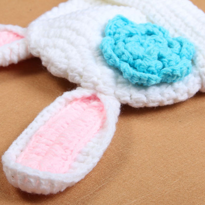 New Crochet Baby Bunny Rabbit Hat and Diaper Cover Set Newborn Easter or  Halloween Photo Prop Knitted Costume Set H188-in Hats   Caps from Mother    Kids on ... 3cd93e024aa4