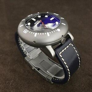 Image 3 - 산 마틴 남자 자동 시계 티타늄 케이스 다이버 시계 2000m 방수 빛나는 베젤 한정판 패션 손목 시계