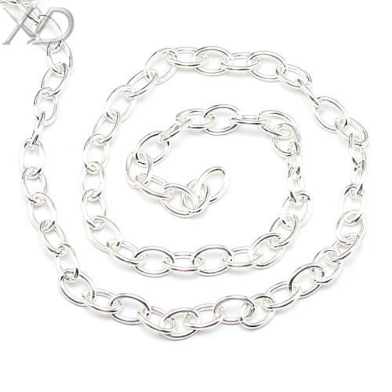 Xd 925 Sterling Silver Oval Link Chain Necklace Extenders Diy For And Bracelet Making 20cm Lot Xs041 In Jewelry Findings Components