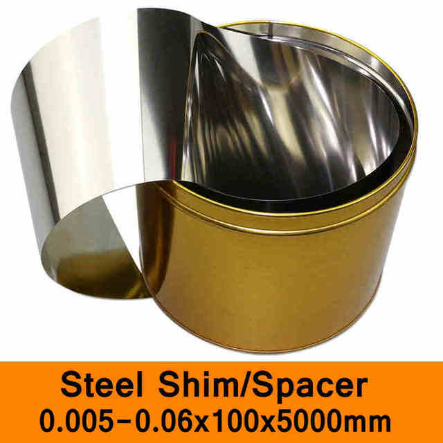 US $78 0 |Stainless Steel Spacer Mold Mould Adjustable Gasket Shim Filler  Feeler Leaf Thin Steel Sheet Thin Strip 100mm Wide 5m Length-in Washers  from