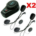 Free Shipping2pcs Motorcycle Bike BT Bluetooth Headset Helmet Intercom w/Extra Earpiece