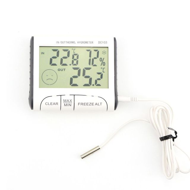 Temperature Humidity Meter Temperature Display Thermometer Hygrometer DC103  Weather Station Household Indoor and Outdoor Use