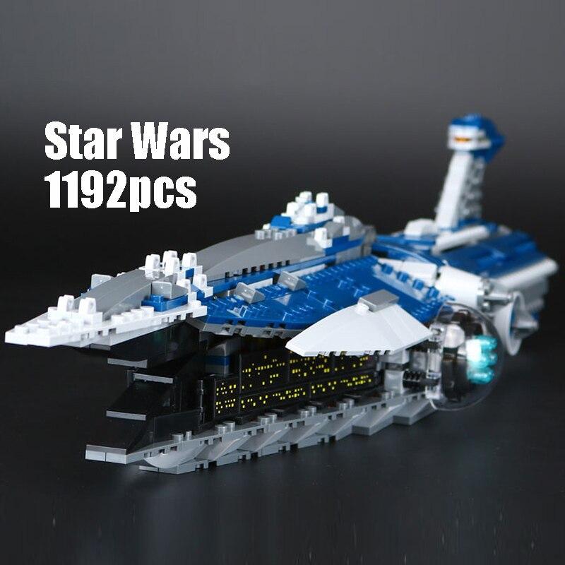 где купить Compatible Legoe 9515 Star Wars Lepin 05072 building blocks Limited Edition Malevolence Warship Figure toys for children по лучшей цене
